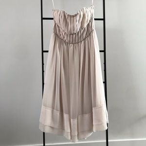 H&M Blush/soft pink color strapless dress